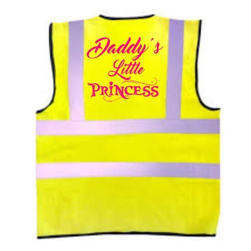 Daddys Little Princess Kids Hi-Vis Vest