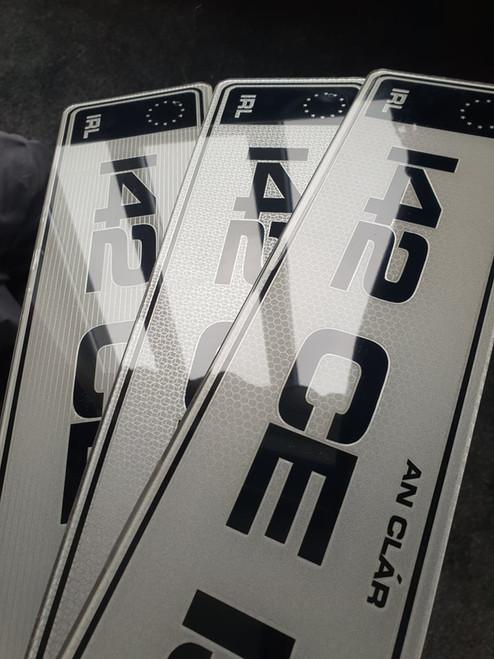 Black IRL Metro Hi-Line Plates (Pair)