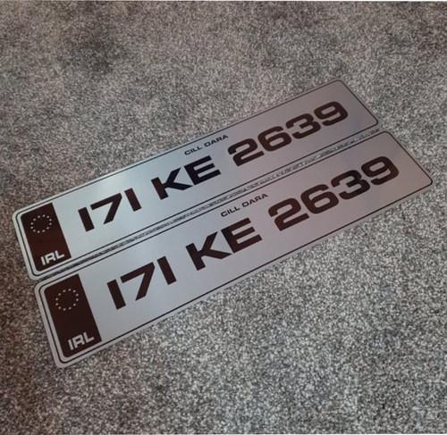 Black IRL Metro Tinted Plates (Pair)