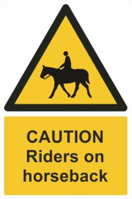 Riders On Horseback Safety Sign