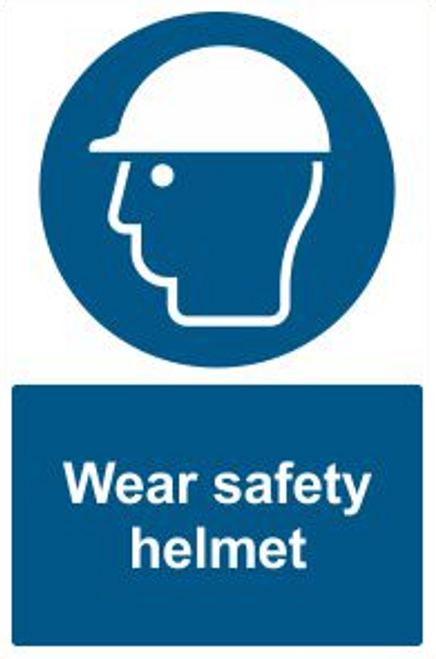 Wear Safety Helmet Safety Sign