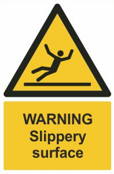 Warning Slippery Surface Safety Sign
