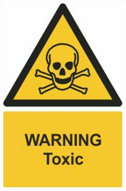Warning Toxic Safety Sign