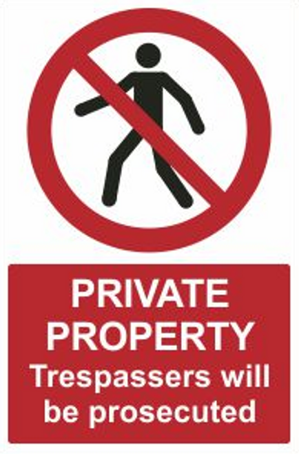 Private Property Safety Sign