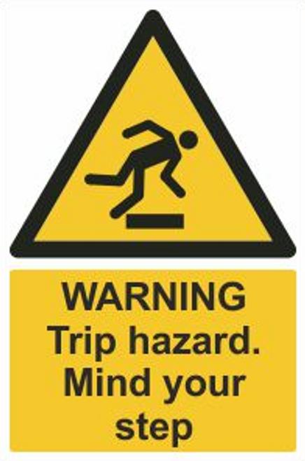 Trip Hazard Safety Sign