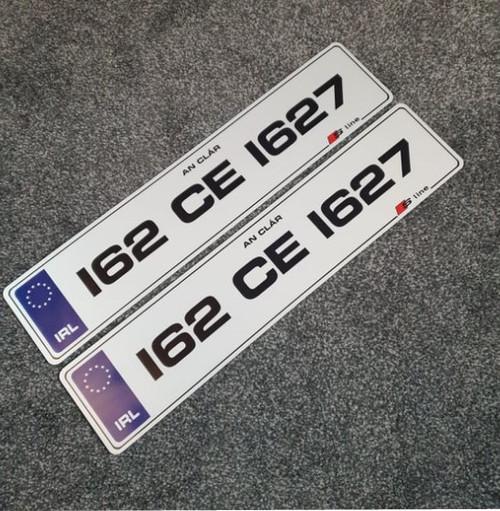 Blue IRL Metro S-Line Plates (Pair)