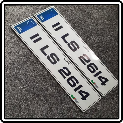 Blue IRL Metro VRS Plates (Pair)