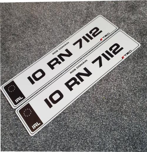Black IRL Metro TRD Number Plates (Pair)