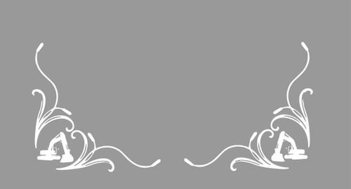 Digger Logo Corner Window Decals (Pair)