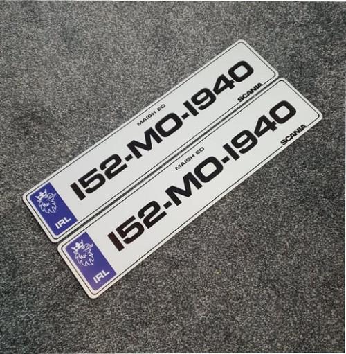 Blue IRL Metro Scania Plates (Pair)