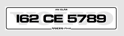 Volvo Background Plates (Pair)
