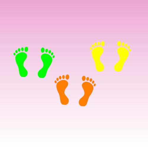 Footprints Decals