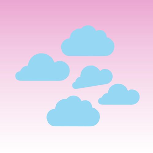 Cloud Decals (Set of 5)