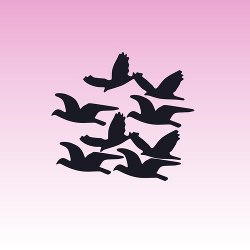Flying Birds (Set of 8)