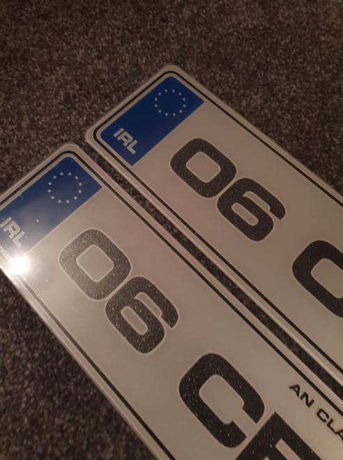 Blue IRL Metro Glitter Plates(Pair)