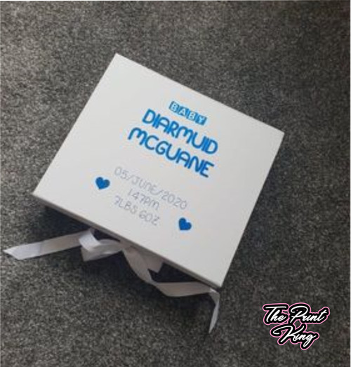 White Personalised Giftbox - New Baby