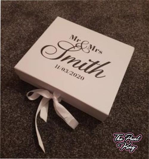 White Personalised Giftbox - Wedding