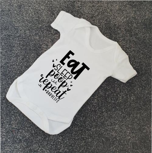 Eat Sleep Poop Repeat Babygrow