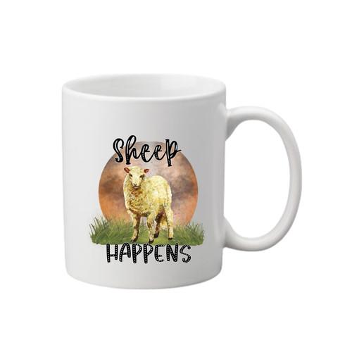 Sheep Happens Printed Mug