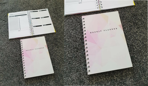 Pink Weekly Planner Notebook