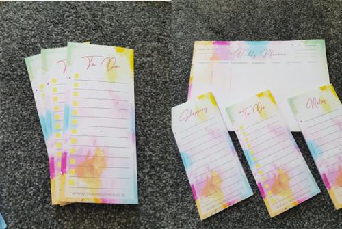 Coloured Stationery Set