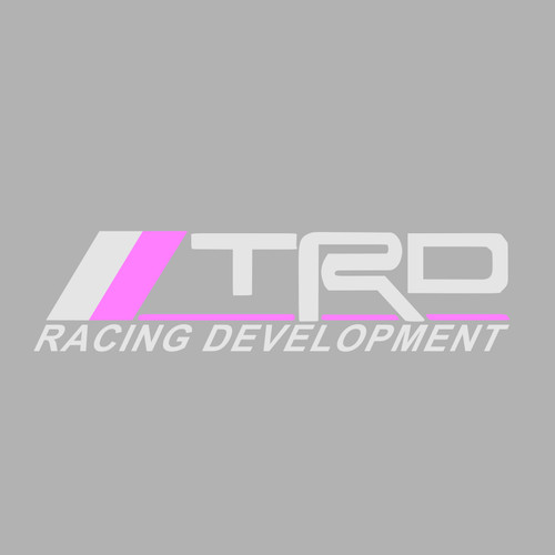 Silver/Pink TRD Windscreen Decal 600mm