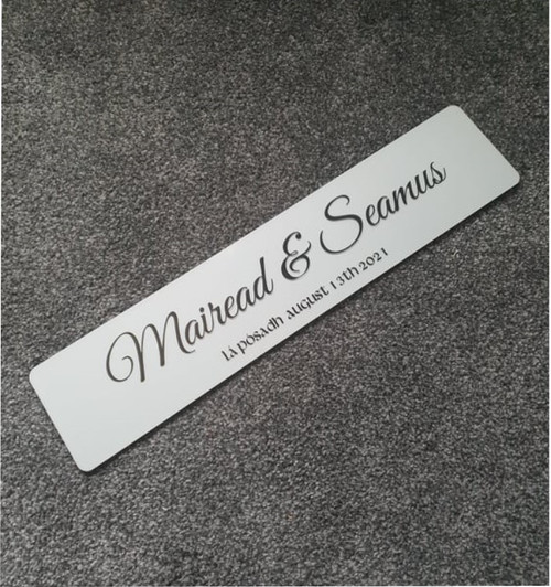 Simple Celtic Style Wedding Plate