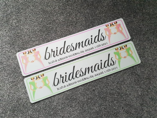 Bridesmaids Wedding Plate - Choose your own colour!
