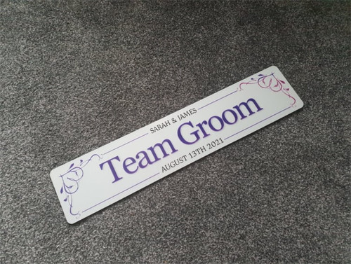 Groomsmen Wedding Plate - Choose your own colour!