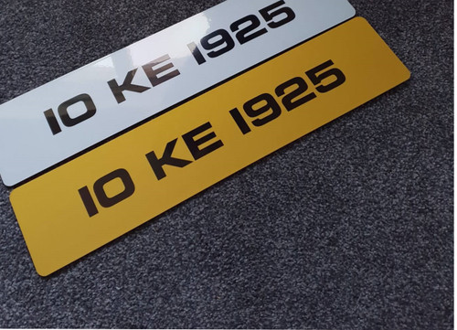 Plain Metro Yellow Plate (Single)