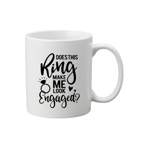 Engaged Printed Mug