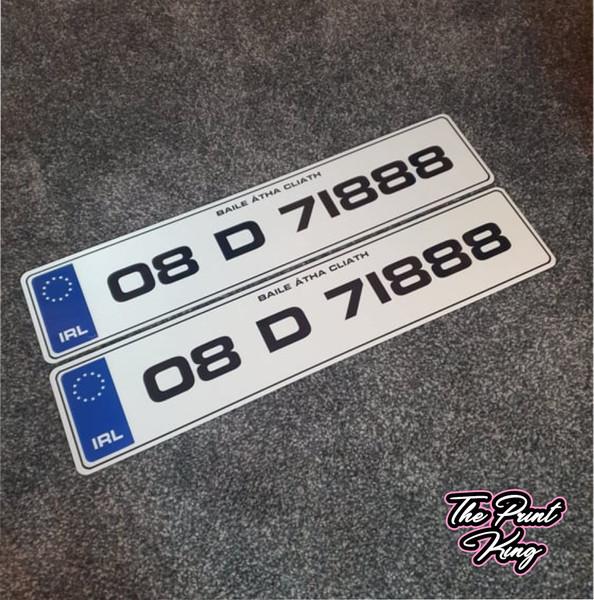 Blue IRL Metro Plates (Pair)