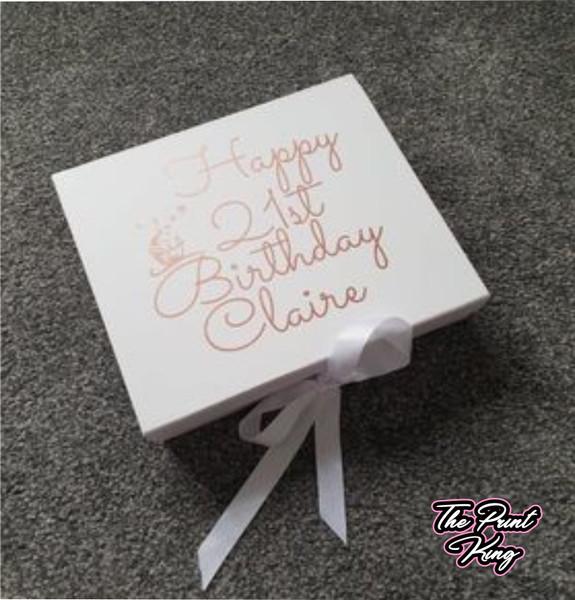 White Personalised Giftbox - Girls Birthday