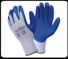 West Chester Blue Latex dipped gloves (12 pair)