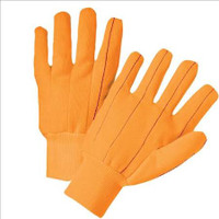 Hi-Vis cotton/canvas orange gloves (12 pair)
