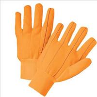 Hi-Vis cotton/canvas orange gloves (12 pair)