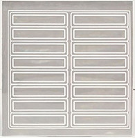 "4"" Reflective Strips - 16ct Sheet"
