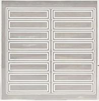 "4"" Reflective Strips - 16ct Sheet"