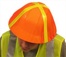 HIVIZ ORANGE HARD HAT COVER - 3 pack