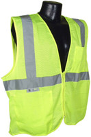 Type R Class 2 Safety Vest with Zipper Closure
