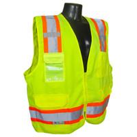 SV62-2ZGT Class 2 Surveyor Heavy Duty Solid Twill Safety Vest XL