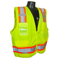 SV62-2ZGT Class 2 Surveyor Heavy Duty Solid Twill Safety Vest XL