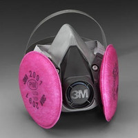 3M 6391 RESPIRATOR ASSEMBLY W/3M 2091 P100 FILTER