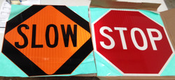"""Stop Slow 18"""" Inch HIP Sign Head"""