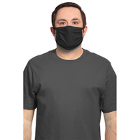 Face Mask 3-Ply Cotton/Spandex 5 pack - Black