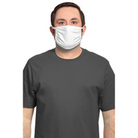 Face Mask 3-Ply Cotton/Spandex 5 pack - White