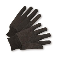 Brown Jersey gloves 100% Cotton 12ct pack