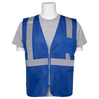 ERB Non-Rated Royal Blue Safety Vest W/Zipper