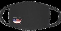 Face Mask 3-Ply Cotton/Spandex Stay Safe America