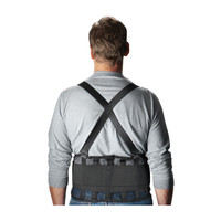 Black Mesh Back Support W/Suspenders